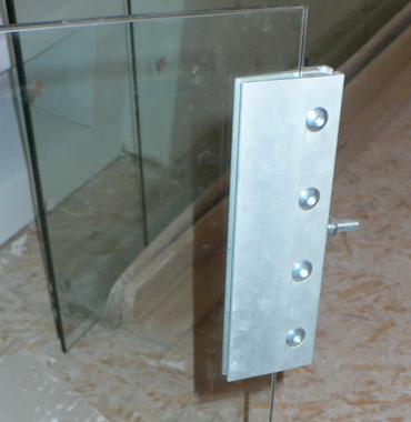 okucie do drzwi szklanych przesuwnych