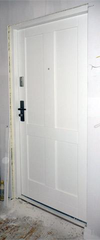 Drzwi wejściowe - widok od wewnątrz, z przedpokoju