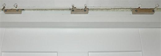 Drzwi wejściowe - podkładki pod wewnętrzną zabudowę